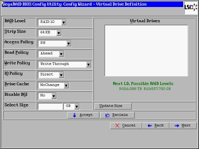 LSI Megaraid RAID10