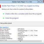 Падение Adobe Flash Player в Mozilla Firefox — Adobe Flash Player Has Stopped Working