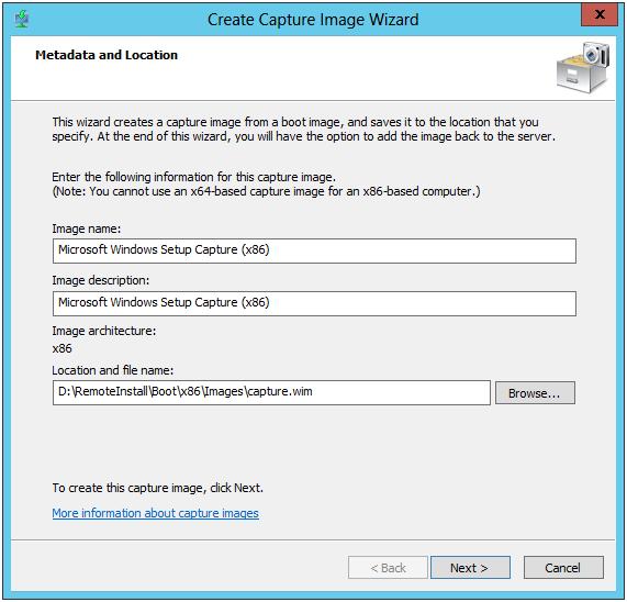 WDS Capture Metadata and Location