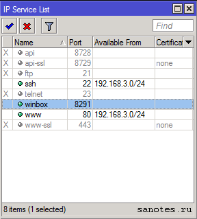 winbox-ip-service-list