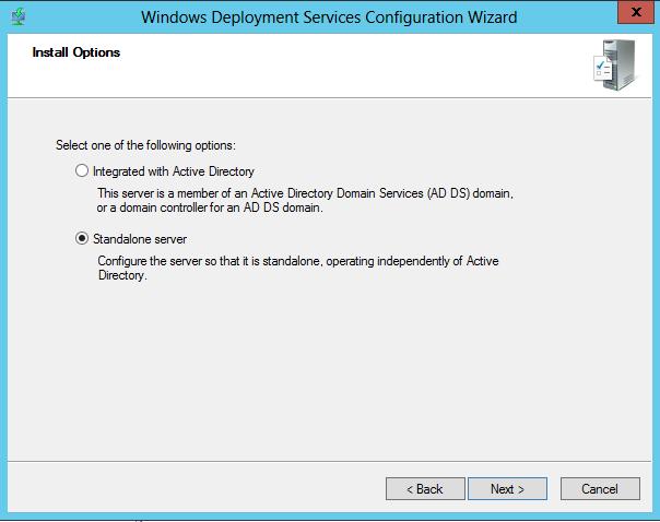 WDS Configure Step 2