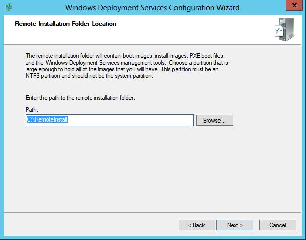 WDS 2012 Configure Step 3