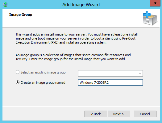 WDS Configure6 Add Image Group