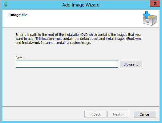 WDS Configure Add Image Group